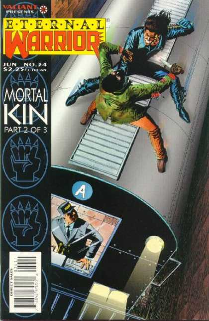 Eternal Warrior 34 - Mortal Kin - Part 2 Of 3 - Train - Knife - Conductor - Paul Gulacy