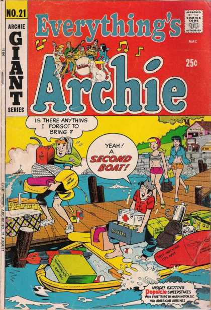 Everything's Archie 21 - Boat - Loading Up - Friends - Gasoline Can - First Aid Kit