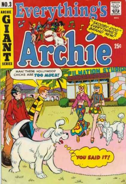 Everything's Archie 3 - Man These Hollywood Chicks Are Too Much - Two Girls Are Walking With Dog - Two Boys Are Commenting The Girls - Filmation Studios - Giant Series