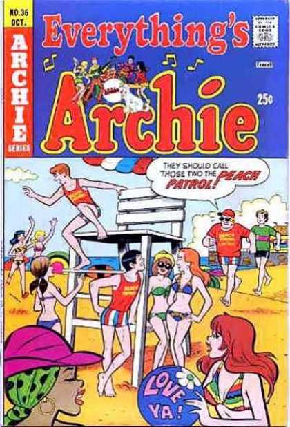 Everything's Archie 36 - Archie - Beach - Teenagers - 70s - Bikinis