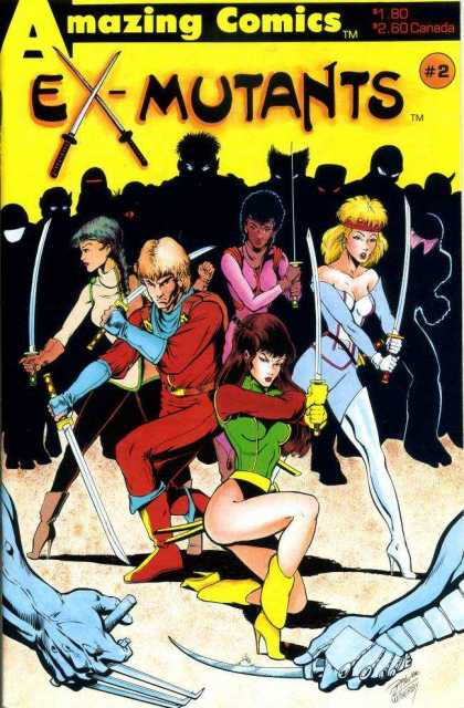Ex-Mutants 2 - Amazing Comics - Sword - 2 - Fight - Women - Ron Lim
