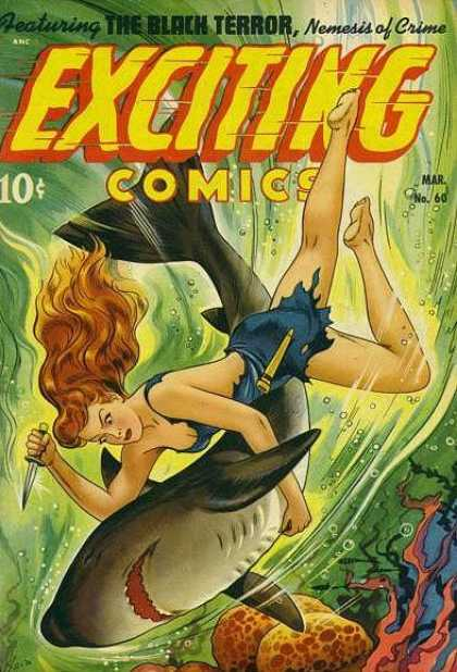 Exciting Comics 60 - Black Terror - Shark - Ocean - Nemesis - Knife - Alex Schomburg