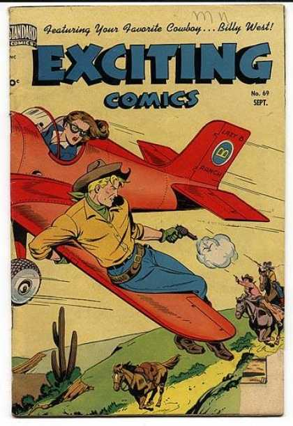 Exciting Comics 69 - Horse - Gun - Aeroplane - Standard Comics - Cap