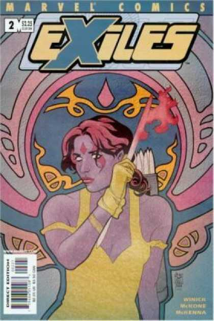 Exiles 2 - Marvel Comics - Pink - Blue - Arrow - Yellow - Mike McKone