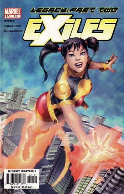 Exiles 21 - Girl - Ponytail - Flying - Buildings - Firing - Georges Jeanty
