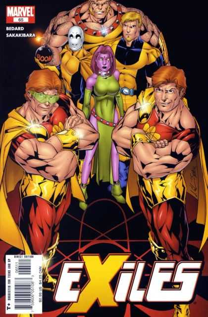 Exiles 65 - Twins - Red Hair - Purple Skin Woman - Green Dress - Bomb