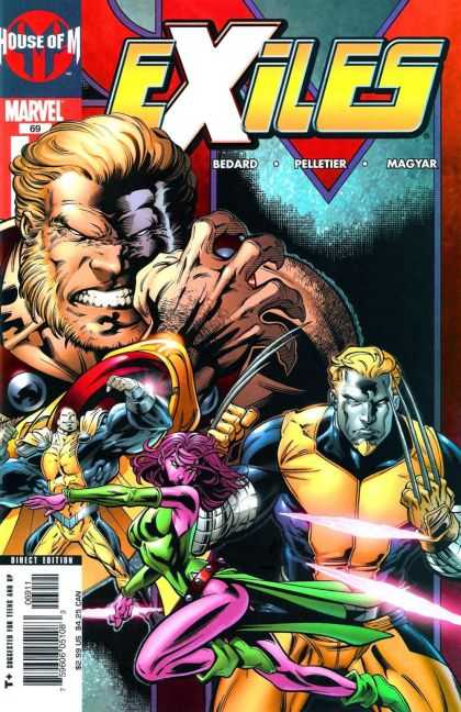 Exiles 69 - Metal Claws - Green Costume - Purple Hair - Yellow Costume - Hereos