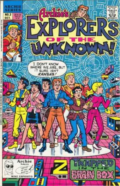 Explorers of the Unknown 3 - Archie Series - Trapped In The Brain Box - No 3 Oct - Group Of People - Nine Esposito