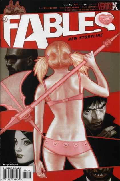 Fables 14 - Fables - New Storyline - Pigtails - Axe - Storybook Love - James Jean