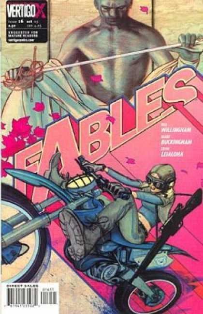 Fables 16 - Vertigo - Stick - Wiilingham - Motorcycle - Direct Sales - James Jean