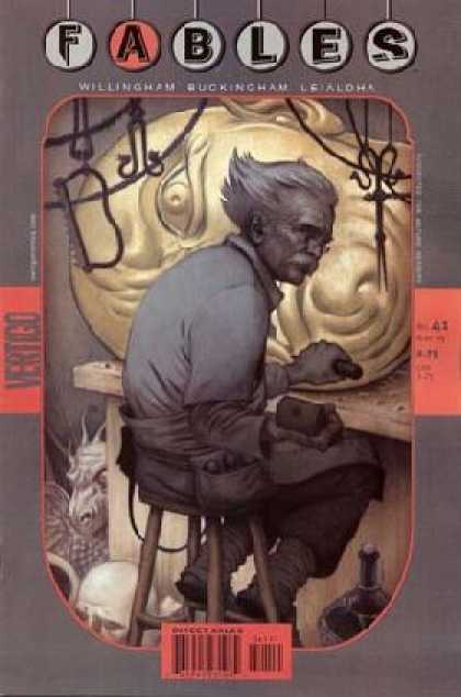 Fables 41 - Old Man - Strange Face - Dragon - Mustache - Funny Hair - James Jean
