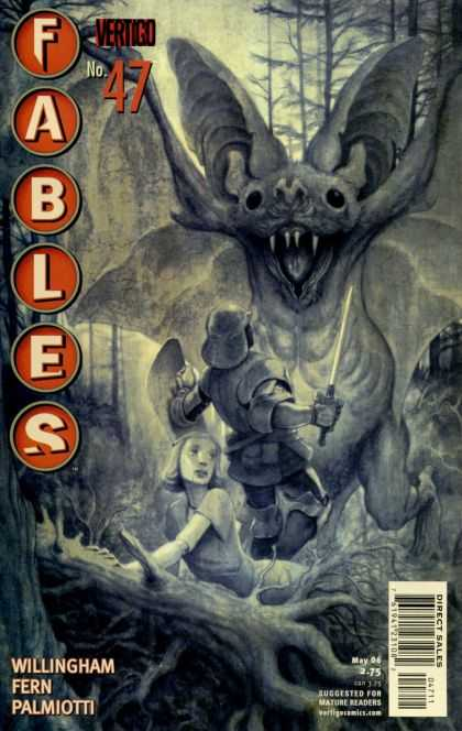 Fables 47 - Vertigo - Bat - Monster - Sword - Helmet - James Jean