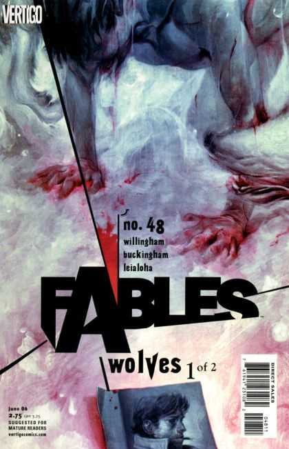 Fables 48 - Wolves One Of Two - Bigby - Mowgli - Blood - Photograph - James Jean