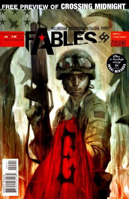 Fables 55 - Crossing Midnight - Army Man - Gun - Willingham Buckingham - Leialoha Pepoy - James Jean