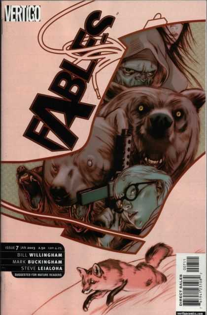 Fables 7 - Bears - Goldilocks - Gun - Fox - Glasses Girl - James Jean