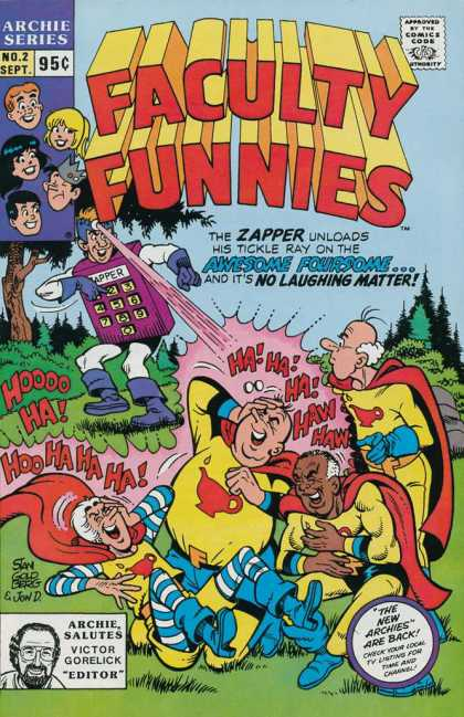 Faculty Funnies 2 - Archie Series - Zapper - Tickle Ray - Awesome Foursome - Laughing - Stan Goldberg