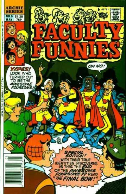 Faculty Funnies 5 - Archie Comics - Volume 5 - Awesome Foursome - Special Edition - Teachers On The Loose