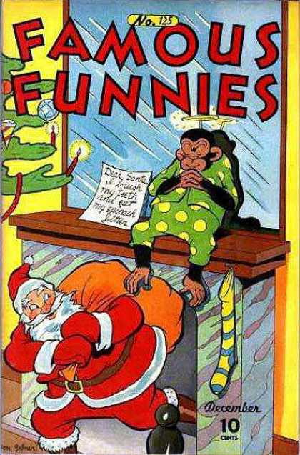 Famous Funnies 125 - Christmas Comics - Santa Claus - December Edition - Dear Santa - Holiday Comic