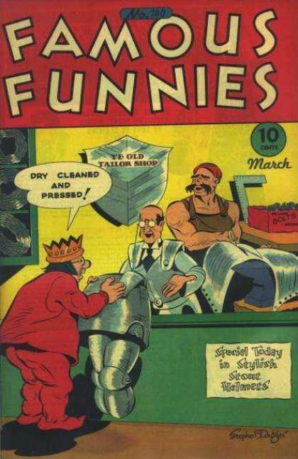Famous Funnies 140 - Tailor - King - Robot - Armor - Funny