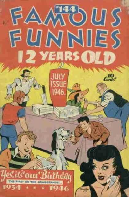 Famous Funnies 144 - Birthday - Fourth Of July - Independence Day - Cake - Candles