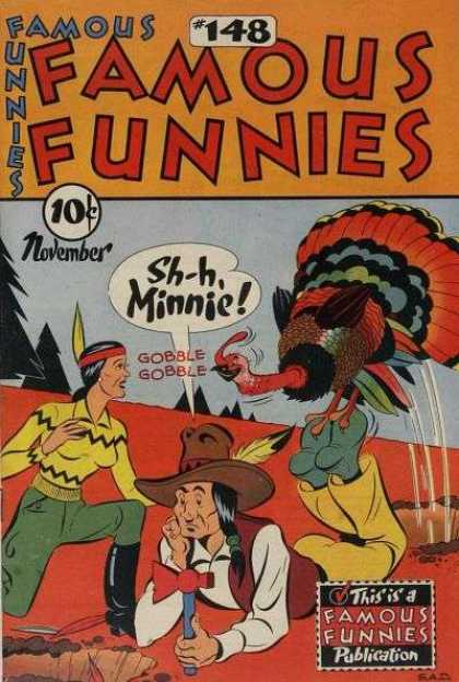Famous Funnies 148 - Shh Minnie - November - Turkey - 148 - Gobble Gobble