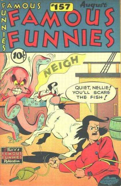 Famous Funnies 157 - 157 - August - Neigh - Rope - Horse