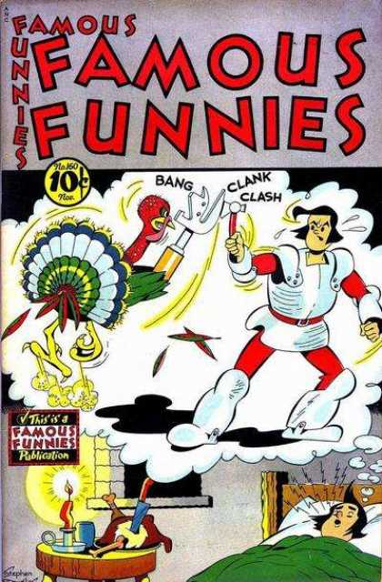 Famous Funnies 160 - Turkey - Knight - Dream - Candle - Knife