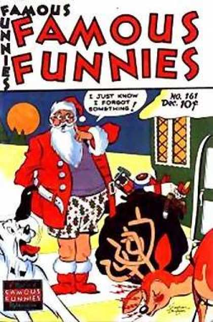 Famous Funnies 161 - Santa - Pants - Rudolph - Boxers - Christmas