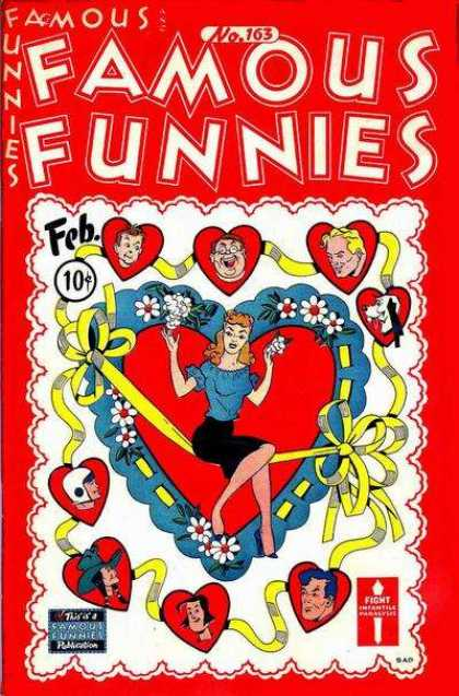 Famous Funnies 163 - Woman - Hearts - Man - Fight - No 163