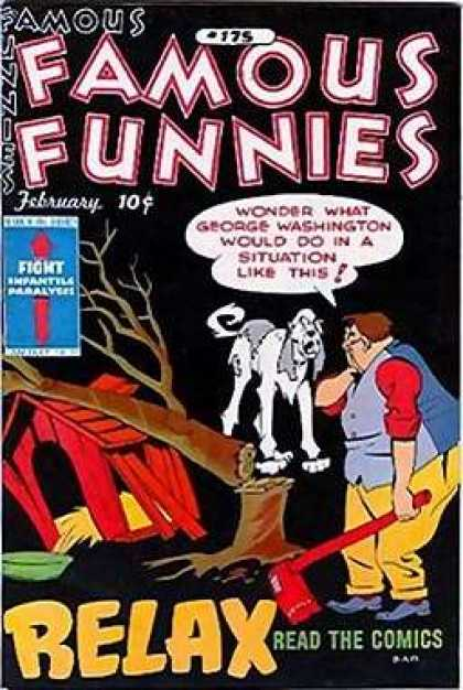 Famous Funnies 175 - Fight - Dog - Relax - February - Read The Comics