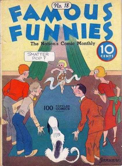 Famous Funnies 18 - The Nations Comic Monthly - Fairy - Women - Men - Dog