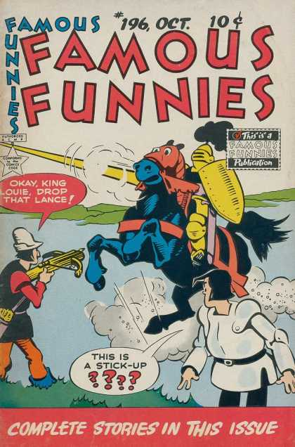 Famous Funnies 196 - Lance - Joust - Horse - Crossbow - Knight