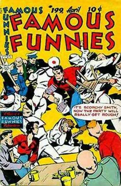Famous Funnies 199 - Table - Chairs - Women - Men - Famous