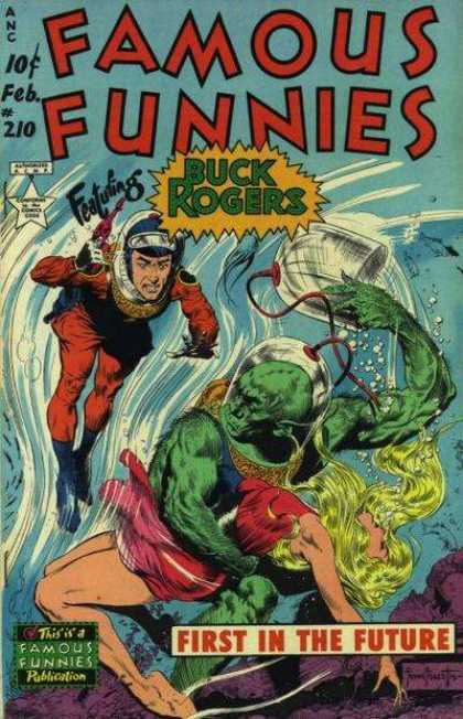 Famous Funnies 210 - Buck Rogers - Water - First In The Future - Helmet - Monkey Man - Frank Frazetta