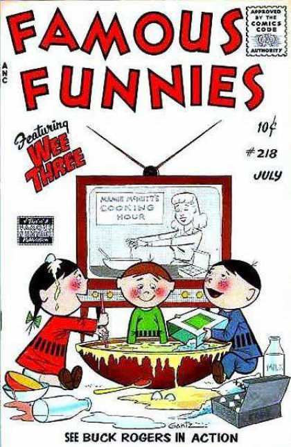 Famous Funnies 218 - Television - Wee Three - Cooking - Children - Milk
