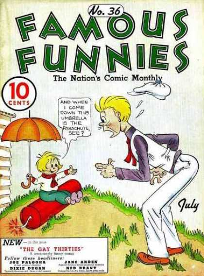 Famous Funnies 36 - Retro - Nations Comic Monthly - July - Joe Palooka - No 36