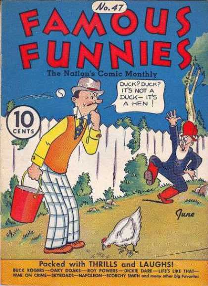 Famous Funnies 47 - A Duck Tale - The Duck-hen-duck Paradox - Jumping Jack - The Red Bucket - Flying Ball