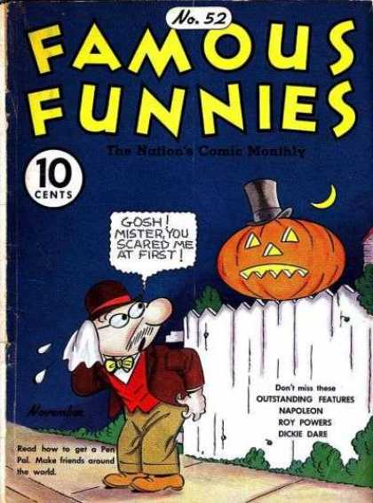 Famous Funnies 52 - Comedy - Dickie Dare - Roy Powers - Napoleon - Jackolantern