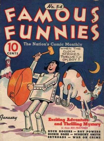 Famous Funnies 54 - Hammer - Adventure - Clock - Moon - Mystery