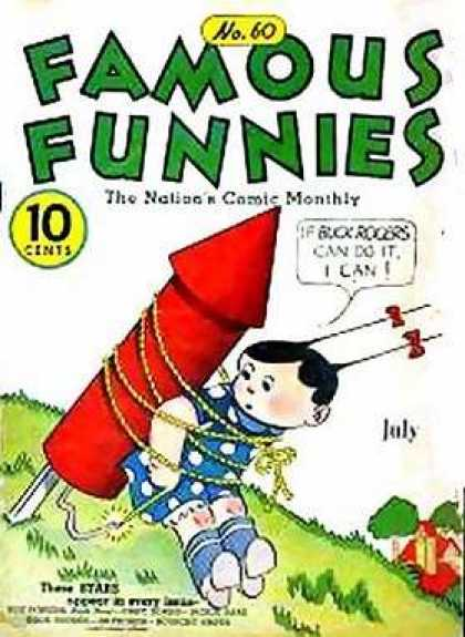 Famous Funnies 60 - Rocket - Rope - Fuse - Girl - Field