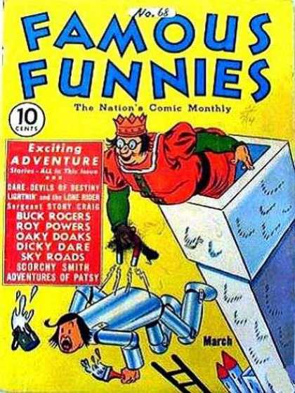 Famous Funnies 68 - 10 Cents - No 68 - 68 - Yellow Cover - Crown