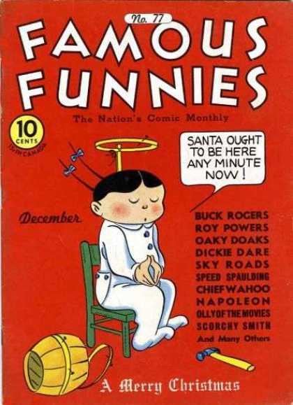 Famous Funnies 77 - Hammer - Boy - 10 Cents - Pail - Christmas