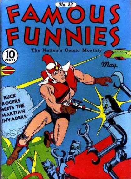 Famous Funnies 82 - Robot - Air Plane - Lazer - Guns - Helmet