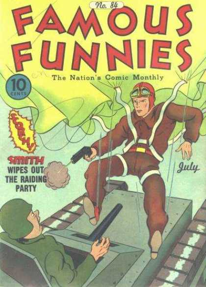 Famous Funnies 84 - Parachute - Smith - Scorchy - Tank - Army