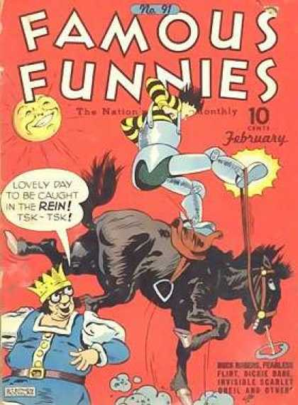 Famous Funnies 91 - Horse - Knight - Armor - King - Saddle