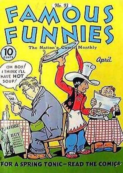 Famous Funnies 93 - Restaurant - Waiter - Indian - Dinner - Soup