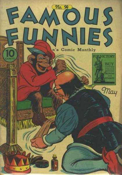 Famous Funnies 94 - Monkey - Bald - Shoe Polish - Crown - Cap