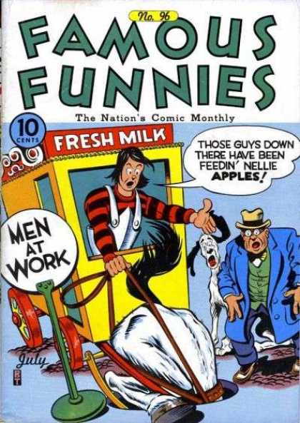 Famous Funnies 96 - Fresh Milk - Men At Work - Man Hole - Horse - Nellie