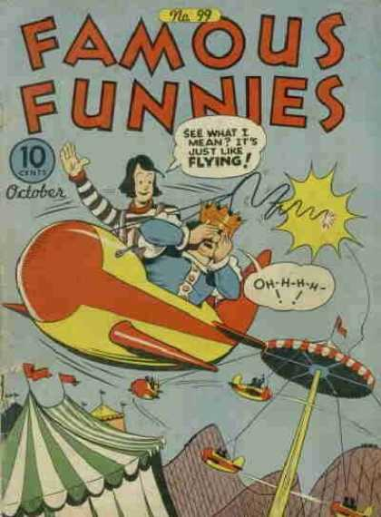 Famous Funnies 99 - Airplane - Crown - Circus - Ride - Flying