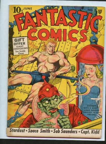 Fantastic Comics 7 - Stardust - Space Smith - Sub Saunders - Captain Kidd - Samson